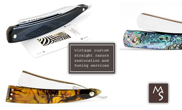 Vintage Custom Straight Razors Restorations & Honing Services