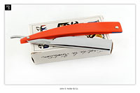 John. S. Holler & Co. - Celebrated # 41- 13/16 - 3/4 Hollow - G10 Hunter Orange - shave ready