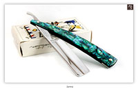 Zartina Cutlery Works - Solingen - 13/16 - Full Hollow - Green Abalone LVS